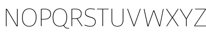 Agile Thin Font UPPERCASE