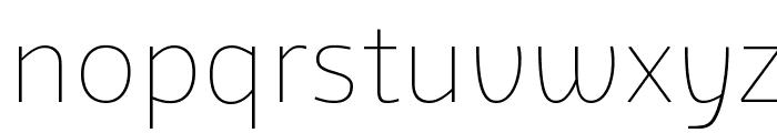 Agile Thin Font LOWERCASE