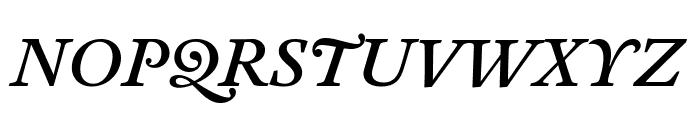 Antwerp MediumItalic Font UPPERCASE
