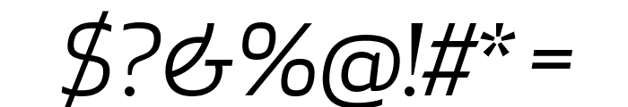 ApexNew BookItalic Font OTHER CHARS