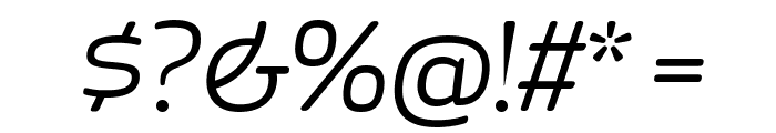 ApexRounded BookItalic Font OTHER CHARS