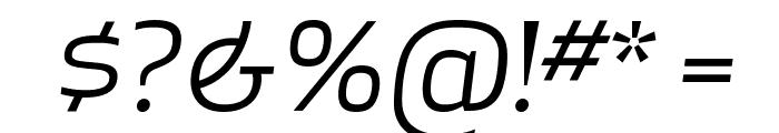 ApexSans BookItalic Font OTHER CHARS
