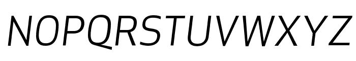 ApexSans BookItalic Font UPPERCASE