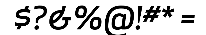 ApexSans MediumItalic Font OTHER CHARS