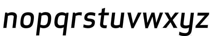 ApexSans MediumItalic Font LOWERCASE