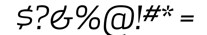 ApexSerif BookItalic Font OTHER CHARS