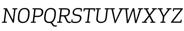 ApexSerif BookItalic Font UPPERCASE