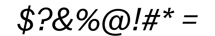 Balto BookItalic Font OTHER CHARS