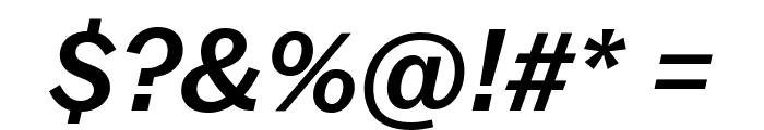 Balto MediumItalic Font OTHER CHARS
