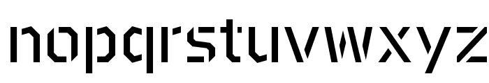BrooklynStencil Book Font LOWERCASE