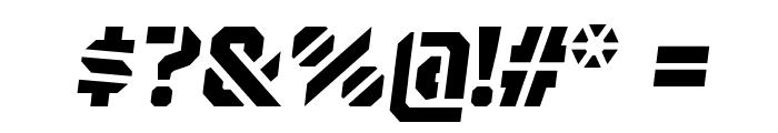 BrooklynStencil ExtraboldOblique Font OTHER CHARS
