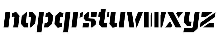 BrooklynStencil ExtraboldOblique Font LOWERCASE