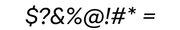 Calibre RegularItalic Font OTHER CHARS
