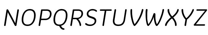 Colette LightItalic Font UPPERCASE