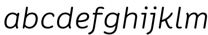 Colette LightItalic Font LOWERCASE