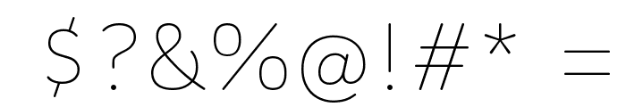 Colette Thin Font OTHER CHARS