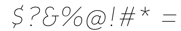 Colette ThinItalic Font OTHER CHARS