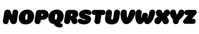 Colette UltraJumboItalic Font UPPERCASE