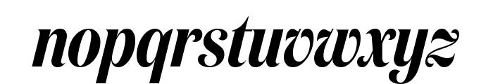 DomaineDisplayCondensed SemiboldItalic Font LOWERCASE
