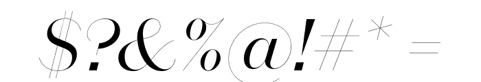 DomaineSansFine Italic Font OTHER CHARS
