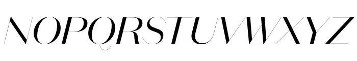 DomaineSansFine Italic Font UPPERCASE
