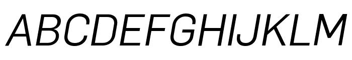 Flama BookItalic Font UPPERCASE