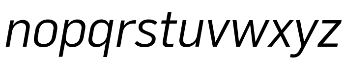 Flama BookItalic Font LOWERCASE
