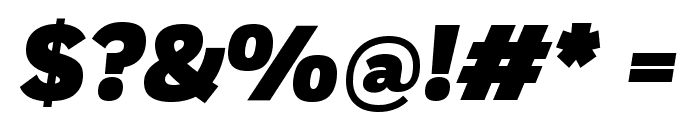 Fort BlackItalic Font OTHER CHARS