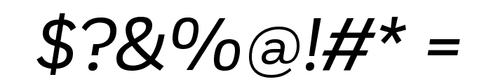 Fort BookItalic Font OTHER CHARS