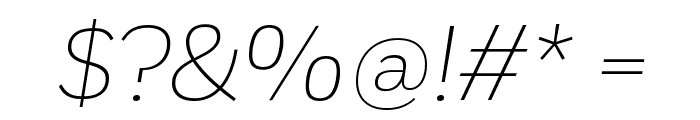 Fort ExtralightItalic Font OTHER CHARS