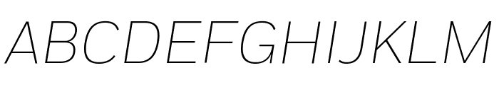 Fort ExtralightItalic Font UPPERCASE