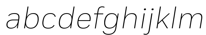 Fort ExtralightItalic Font LOWERCASE