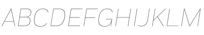 Fort ThinItalic Font UPPERCASE