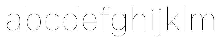 Fort Thin Font LOWERCASE