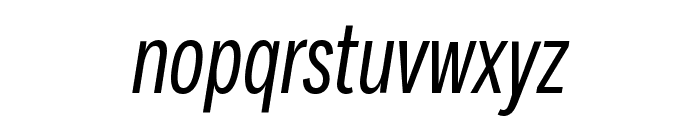 Fort XCond BookItalic Font LOWERCASE