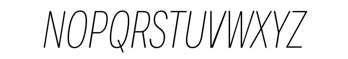 Fort XCond ExtralightItalic Font UPPERCASE