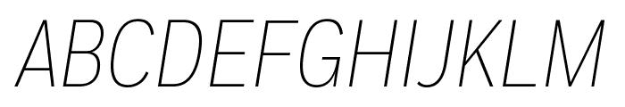 FortCond ExtralightItalic Font UPPERCASE