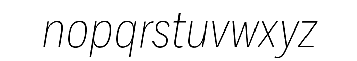 FortCond ExtralightItalic Font LOWERCASE