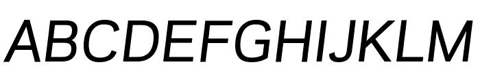 GalaxiePolaris MediumItalic Font UPPERCASE