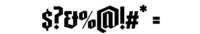 GandurAlte Halbfett Font OTHER CHARS