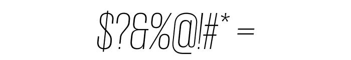 GiorgioSans ExtralightItalic Font OTHER CHARS