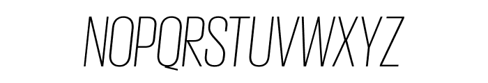 GiorgioSans ExtralightItalic Font UPPERCASE