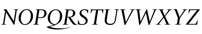 Gravitas Italic Font UPPERCASE