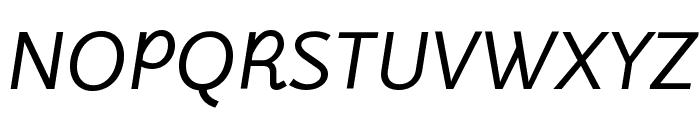 LuxSans BookItalic Font UPPERCASE