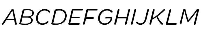 Marigny BookItalic Font UPPERCASE