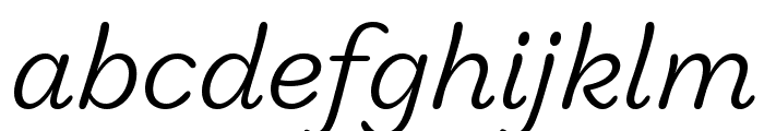 Marigny BookItalic Font LOWERCASE