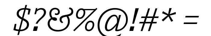 Outsiders Italic Font OTHER CHARS