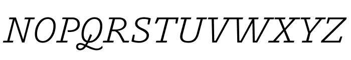 Outsiders Italic Font UPPERCASE