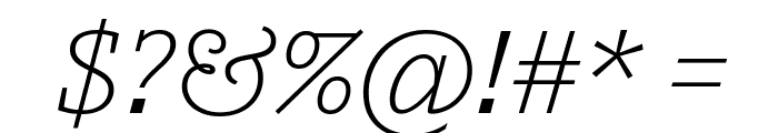 Outsiders LightItalic Font OTHER CHARS