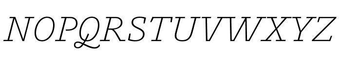 Outsiders LightItalic Font UPPERCASE